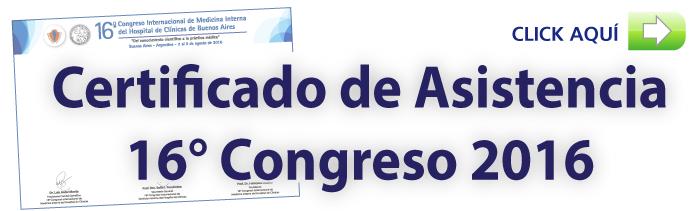 Certificado de Asistencia 16° Congreso 2016