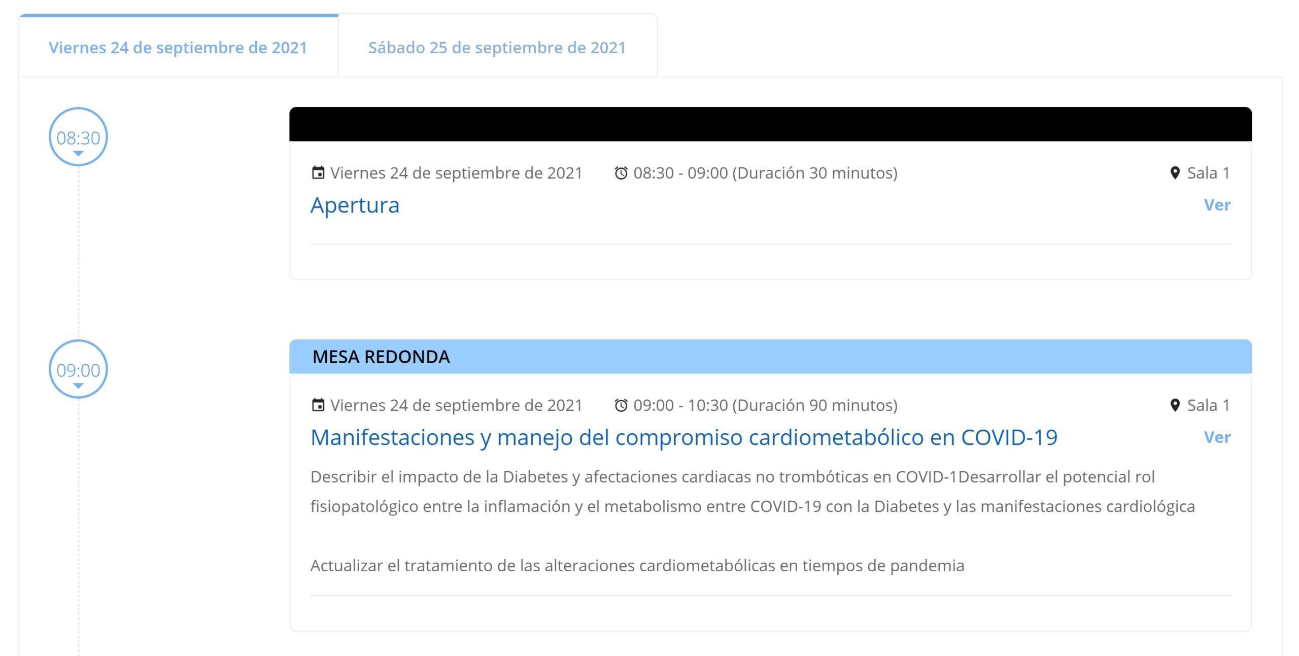 Programa Cientifico Online Jornadas COVID-19 Congreso Clinicas 2021